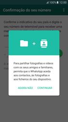 Samsung Galaxy S6 Android M - Aplicações - Como configurar o WhatsApp -  7