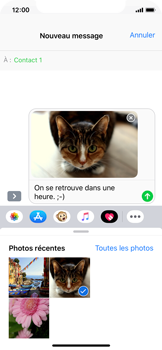 Apple iPhone X - iOS 12 - MMS - envoi d'images - Étape 12
