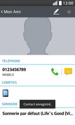 LG F70 - Contact, Appels, SMS/MMS - Ajouter un contact - Étape 7