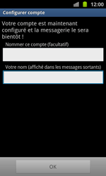 Samsung I8530 Galaxy Beam - E-mail - Configuration manuelle - Étape 14