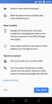 ZTE Blade V9 - Applications - Create an account - Step 13