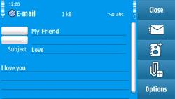 Nokia N97 - E-mail - Sending emails - Step 10