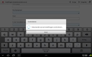 Samsung N8020 Galaxy Note 10-1 LTE - E-mail - Handmatig instellen - Stap 11