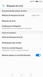 Huawei P9 Lite - Android Nougat - Segurança - Como ativar o código de bloqueio do ecrã -  11