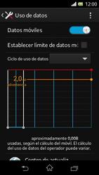 Sony Xperia L - Internet - Ver uso de datos - Paso 8