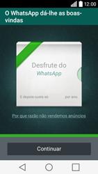 LG Y50 / LEON - Aplicações - Como configurar o WhatsApp -  10