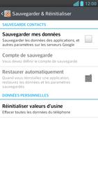 LG Optimus F6 - Aller plus loin - Restaurer les paramètres d'usines - Étape 5
