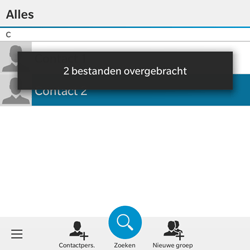 BlackBerry Classic - Contacten en data - Contacten overzetten via Bluetooth - Stap 11