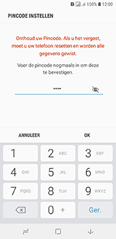 Samsung Galaxy A6 - Beveiliging - stel in of wijzig pincode voor je toestel - Stap 10