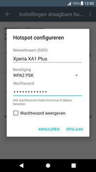 Sony Xperia XA1 Plus (G3421) - WiFi - Mobiele hotspot instellen - Stap 9