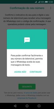 Huawei Y6 (2018) - Aplicações - Como configurar o WhatsApp -  11