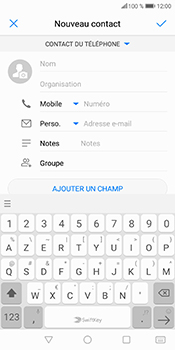 Huawei P Smart - Contact, Appels, SMS/MMS - Ajouter un contact - Étape 5