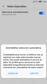 Huawei Mate 9 - Red - Seleccionar una red - Paso 7