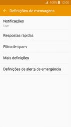 Samsung Galaxy J3 (2016) - SMS - Como configurar o centro de mensagens -  6