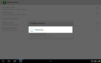 Samsung N8000 Galaxy Note 10-1 - Network - Usage across the border - Step 7