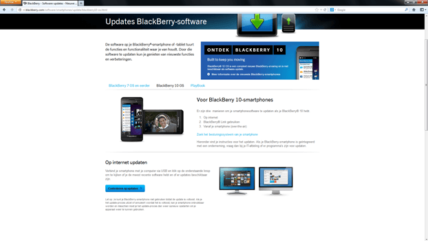 BlackBerry Z10 - Software - Installeer firmware update - Stap 4
