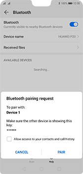 Huawei P20 Android Pie - Bluetooth - Pair with another device - Step 7