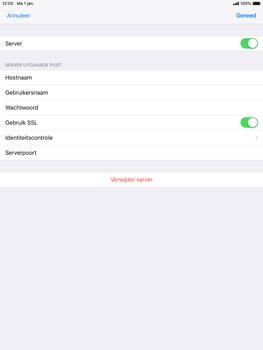 Apple ipad-mini-2-ios-12 - E-mail - Account instellen (POP3 met SMTP-verificatie) - Stap 18