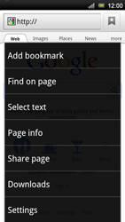 Sony Xperia Neo V - Internet - Internet browsing - Step 5