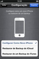 Apple iPhone iOS 5 - Primeiros passos - Como ativar seu aparelho - Etapa 11