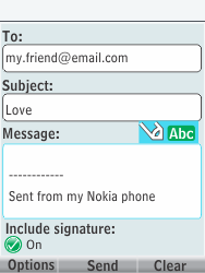 Nokia 301-1 - E-mail - Sending emails - Step 11