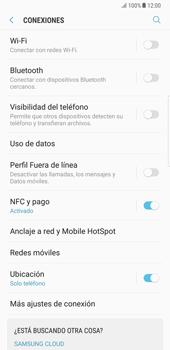 Samsung Galaxy Note 8 - Funciones básicas - Activar o desactivar el modo avión - Paso 5