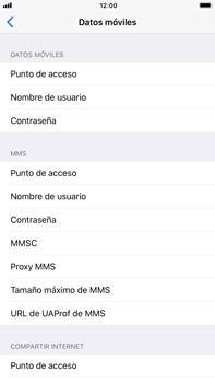 Apple iPhone 7 Plus iOS 11 - Mensajería - Configurar el equipo para mensajes multimedia - Paso 6