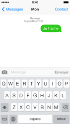 Apple iPhone 5c - Contact, Appels, SMS/MMS - Envoyer un SMS - Étape 8