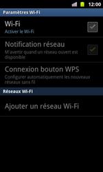 Samsung I8160 Galaxy Ace II - Wifi - configuration manuelle - Étape 5