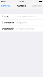 Apple iPhone SE - E-mail - Configurar Outlook.com - Paso 6
