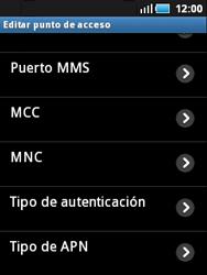 Samsung S5570 Galaxy Mini - Mensajería - Configurar el equipo para mensajes multimedia - Paso 11
