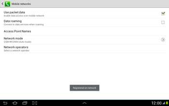 Samsung N8000 Galaxy Note 10-1 - Network - Usage across the border - Step 9