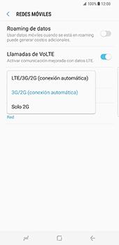 Samsung Galaxy S8 Plus - Red - Seleccionar el tipo de red - Paso 7