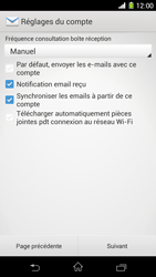 Sony C6903 Xperia Z1 - E-mail - Configurer l