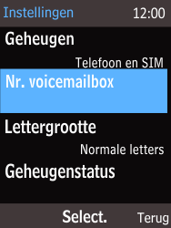 Nokia 220 - Voicemail - Handmatig instellen - Stap 6