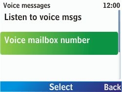 Nokia C3-00 - Voicemail - Manual configuration - Step 6