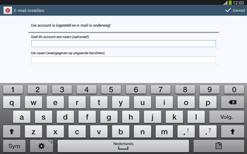 Samsung P5220 Galaxy Tab 3 10-1 LTE - E-mail - e-mail instellen: IMAP (aanbevolen) - Stap 19