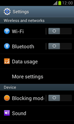 Samsung S7560 Galaxy Trend - Internet - Enable or disable - Step 4