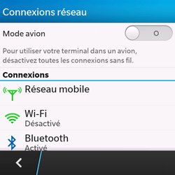 BlackBerry Q10 - Aller plus loin - Désactiver les données à l'étranger - Étape 5