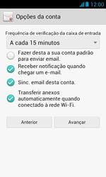 Huawei Y340 - Email - Como configurar seu celular para receber e enviar e-mails - Etapa 17