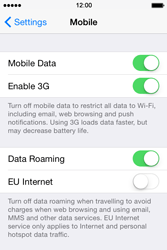 Apple iPhone 4 S - iOS 8 - Internet - Usage across the border - Step 4