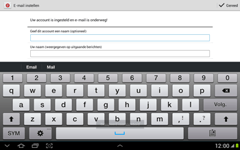 Samsung N8000 Galaxy Note 10-1 - E-mail - Handmatig instellen - Stap 16