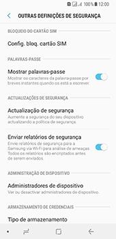 Samsung Galaxy A8 (2018) - Segurança - Como ativar o código PIN do cartão de telemóvel -  6