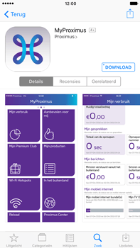 Apple Apple iPhone 6 Plus - iOS 10 - Applicaties - MyProximus - Stap 8