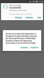 Samsung Galaxy A5 (2016) (A510F) - Aplicações - Como configurar o WhatsApp -  8