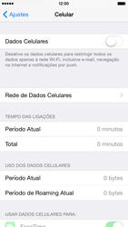 Apple iPhone iOS 8 - Rede móvel - Como ativar e desativar uma rede de dados - Etapa 5