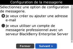 BlackBerry 9000 Bold - E-mail - Configuration manuelle - Étape 6
