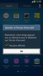 Samsung Galaxy S4 - Applications - Personnaliser l