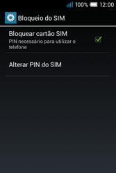 Alcatel POP C1 - Segurança - Como ativar o código PIN do cartão de telemóvel -  8