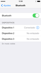 Apple iPhone 5s - Bluetooth - Conectar dispositivos a través de Bluetooth - Paso 7